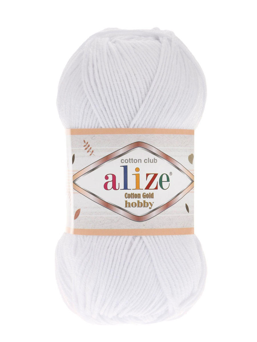 "ALIZE / Пряжа ""Cotton Gold Hobby"" 50г / 165м., 5 шт."