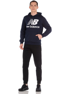 Худи ESSENTIALS STACKED LOGO PO HOODIE New balance