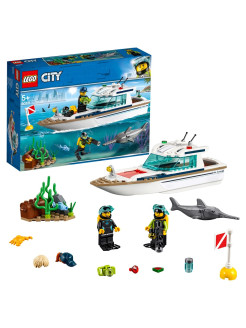 Конструктор LEGO City Great Vehicles 60221 Яхта для дайвинга LEGO