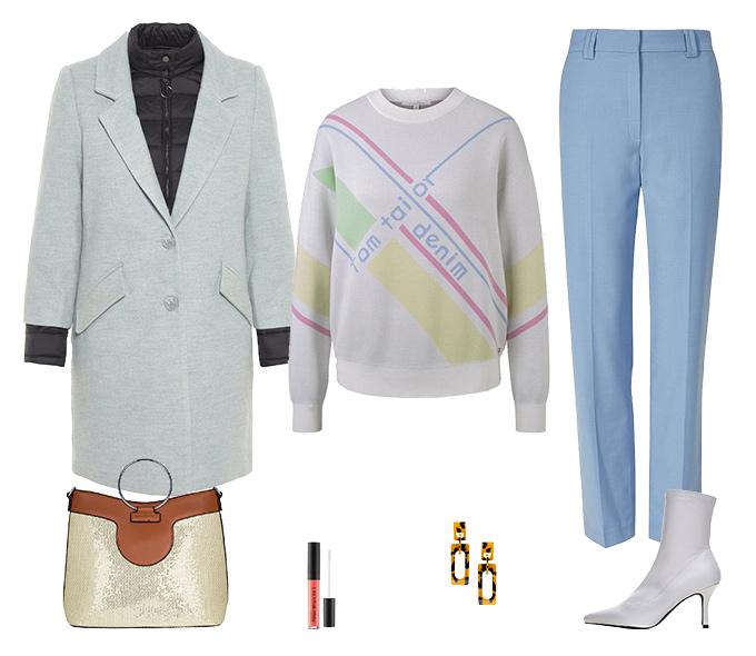 Пальто на весну: 5 образов от стилистов.