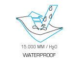 15.000mm/H2O waterproof