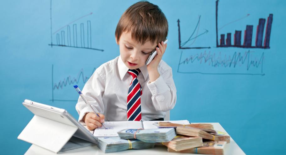 Дети начинают зарабатывать первые деньги или хотят открыть свой бизнес?