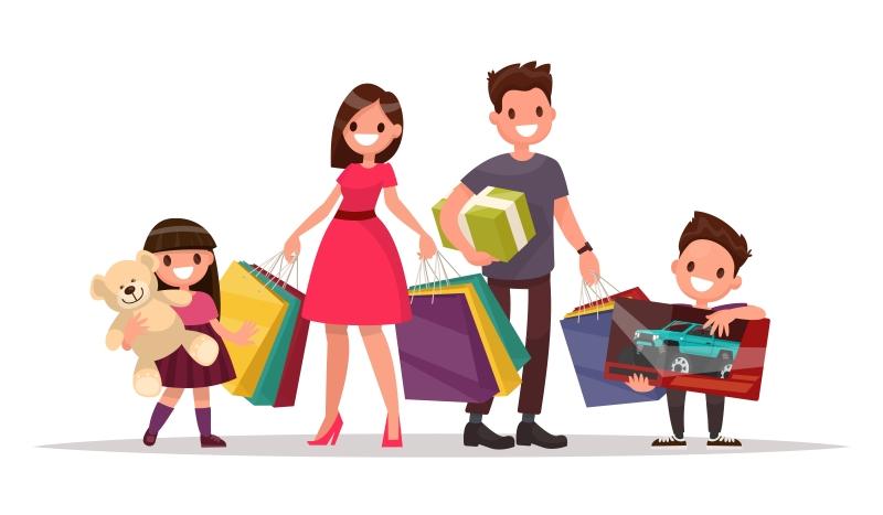 Всей семьей за покупками