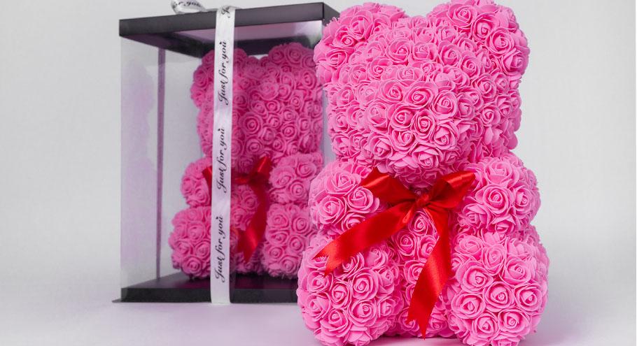 Мишки из 3D роз — идеальный подарок для любимой!
