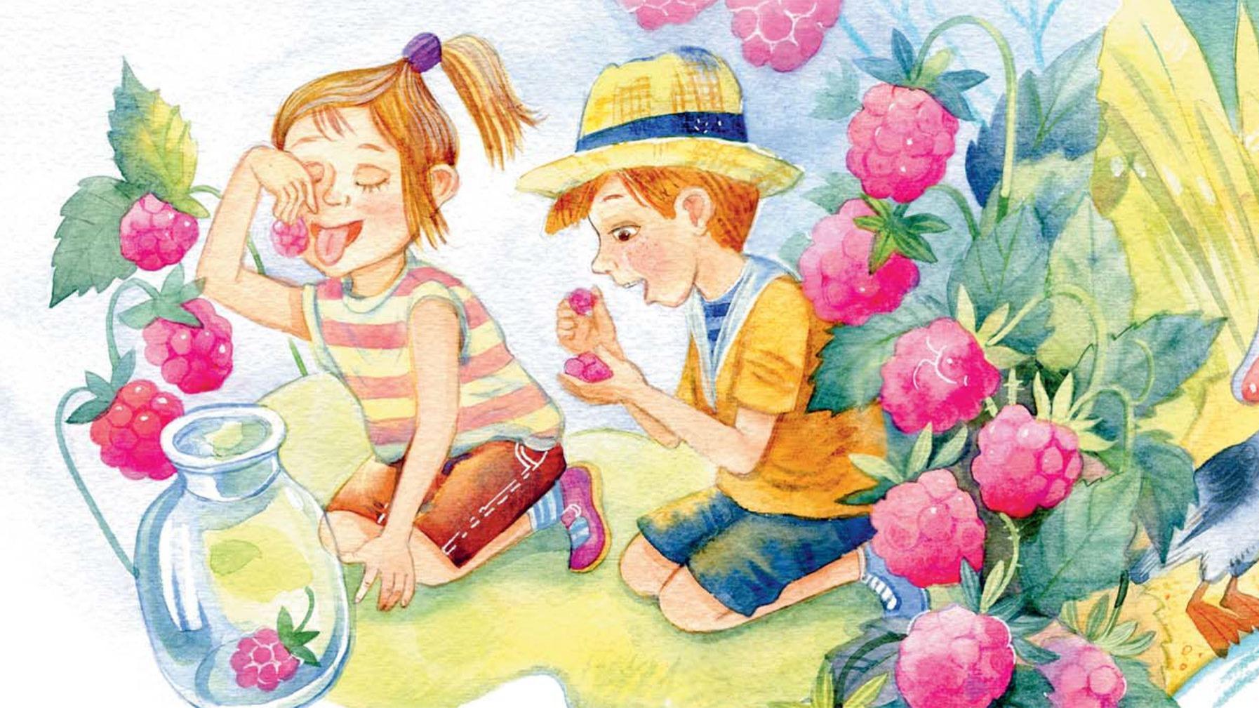 Летнее настроение в детских книгах. Стихи, виммельбухи, рассказы и повести