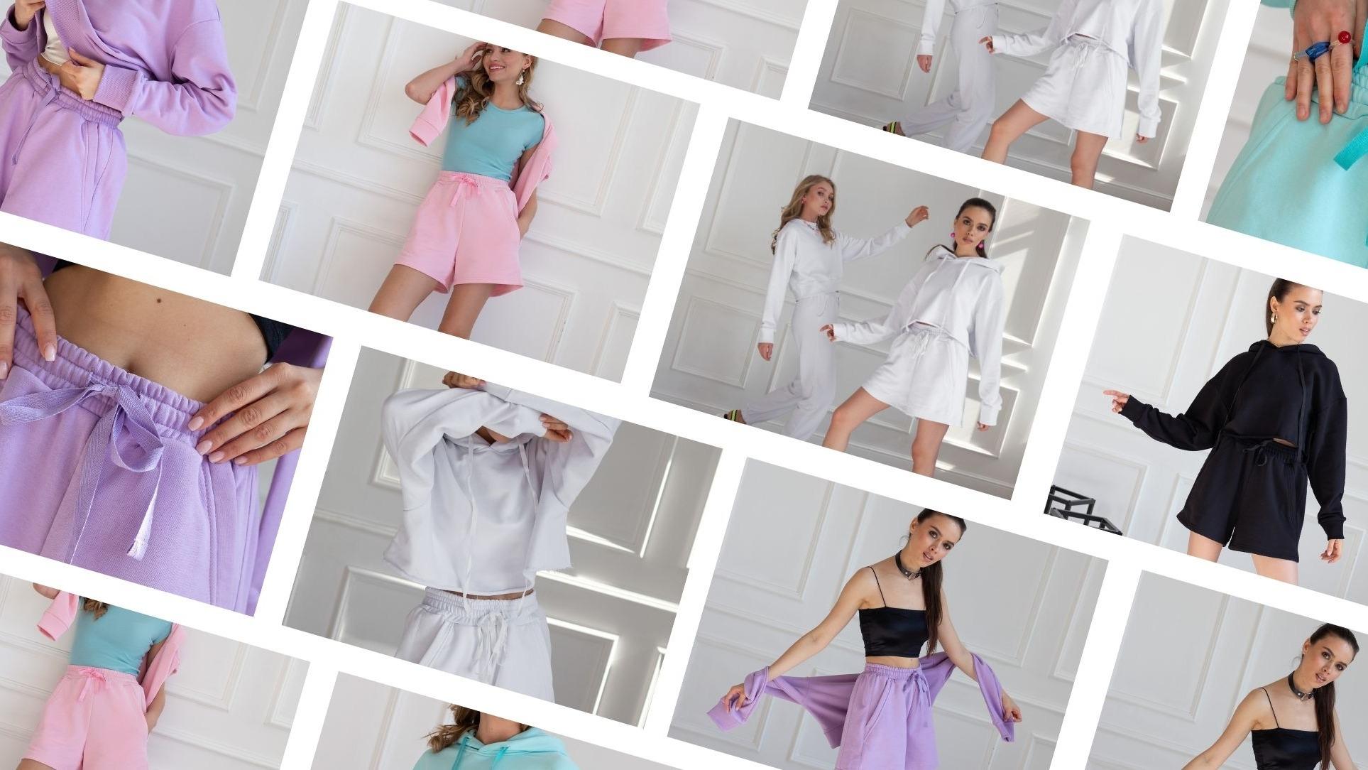 Идеи для образов с трикотажными шортами