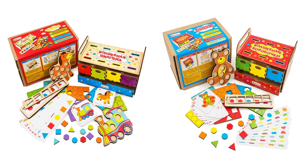 Умные коробочки - более 8 развивающих игр в одной коробке
