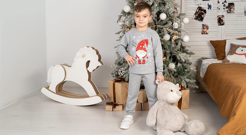 Сон в зимнюю ночь: детские пижамы с новогодними принтами