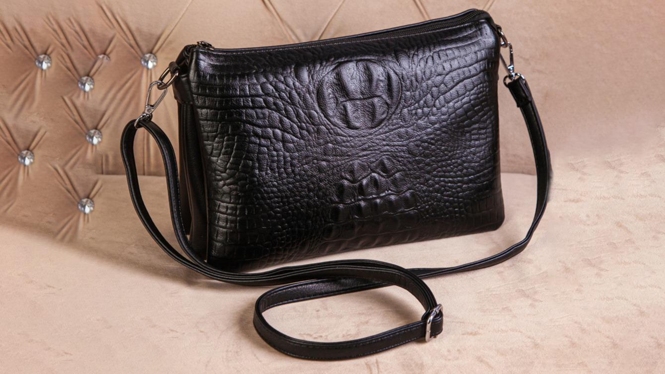 Женская сумочка клатч под крокодил
