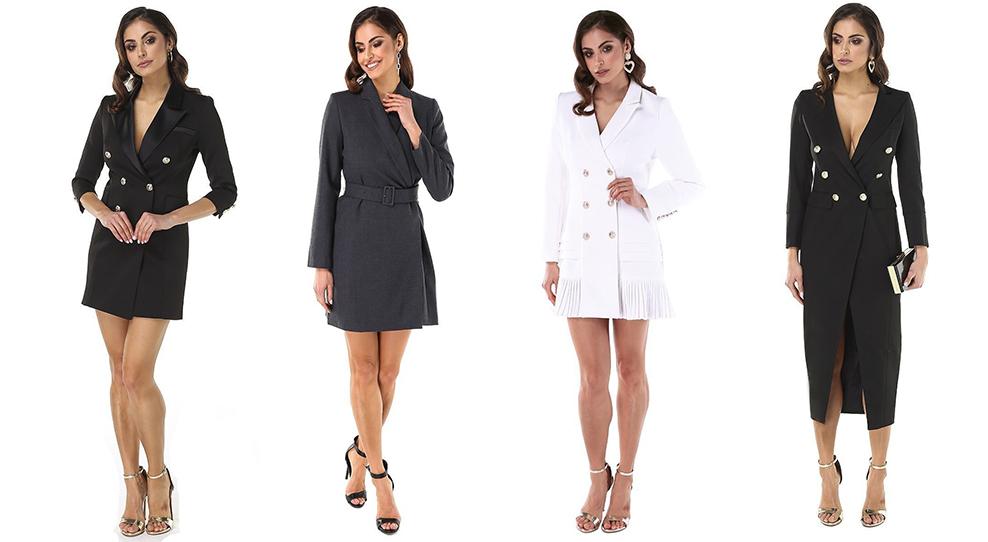 Платье-пиджак – эффектный наряд, который будоражит