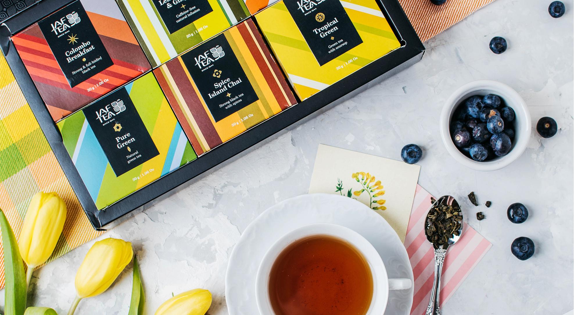 Цвета Цейлона, тот самый чай JAF TEA для погружения на остров мечты.