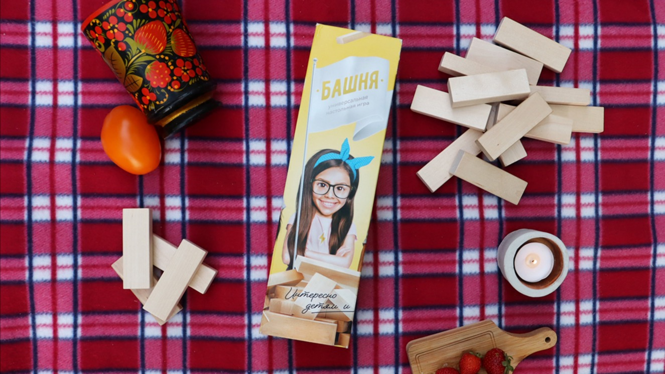 """Березовое качество натуральной деревянной игры """"Башня"""" Дженга от Nobi Toys!"""