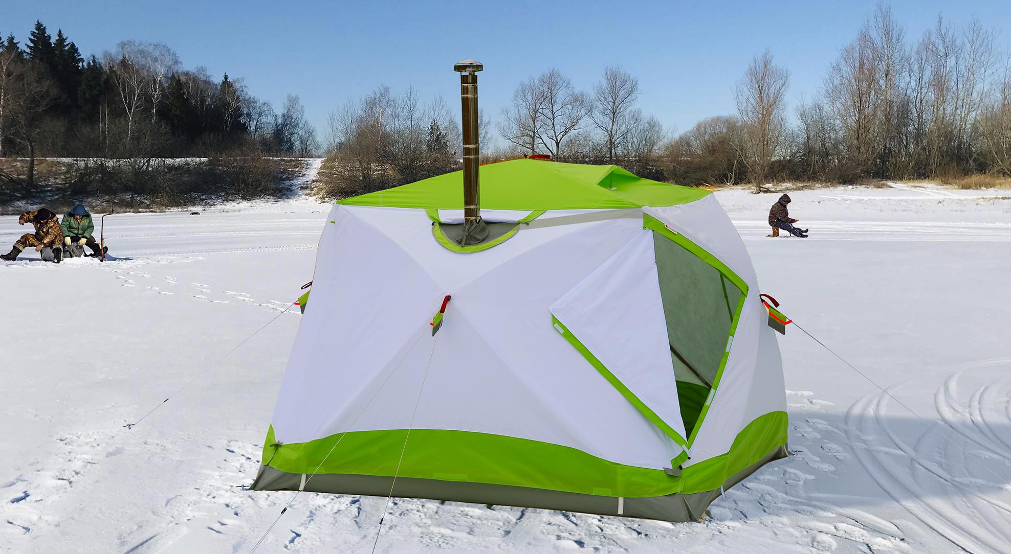 Зимняя палатка Лотос куб с утеплением и полной гидроизоляцией.