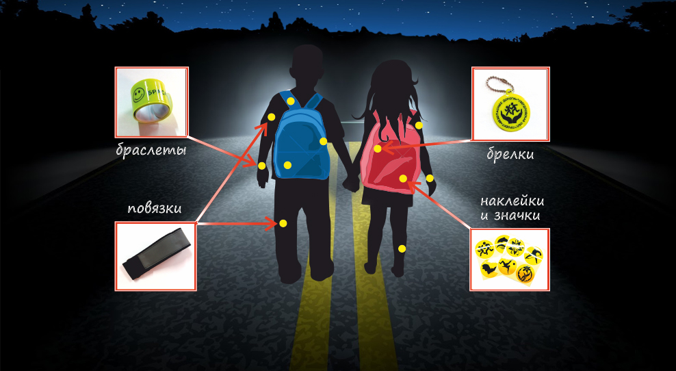 Выходим из тени: светоотражатели - залог безопасности на дорогах