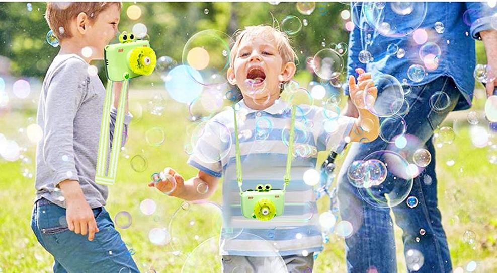 Мыльные пузыри на батарейках Krobly Bubble Camera — мыльные пузыри