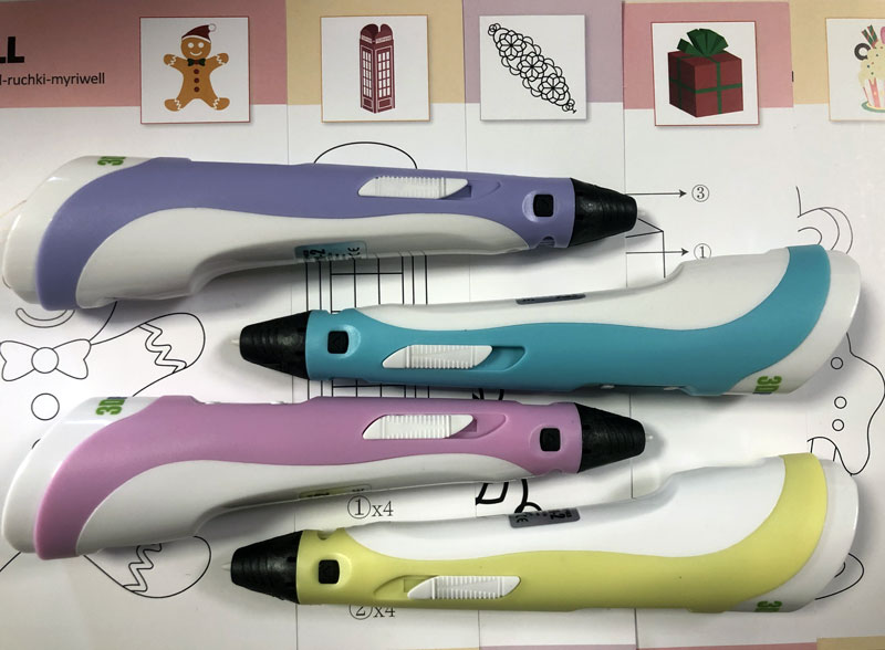 Набор 3DPEN-2 3D ручка с набором пластика PLA и набором трафаретов